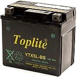 Toplite 台湾ユアサ YTX5L-BS バイク用 耐震バッテリー AGM シールド型 液入り充電済み 台湾YUAS…