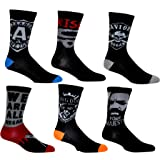 The Walking Dead Socks (6 Pair) - Ladies & Men's (1 Size) - TWD Novelty Crew Socks