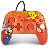 PowerA Enhanced Wired Controller for Nintendo Switch - Mario Vintage, Gamepad, Wired Video Game Controller, Gaming Controller