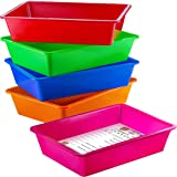 Zilpoo 5 Pack – Paper Organizer Bins, Colorful Plastic Turn in Tray, Classroom File Holder, Teacher Book School Supplies Stor