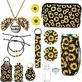 12PCS Sunflower Accessories,Sunflower Gift Box,Sunflower Necklace,Sunflower Bracelet,Sunflower Earrings,Sunflower Makeup Bag,