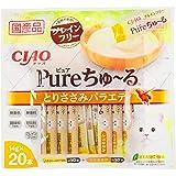 チャオ (CIAO) 猫用おやつ Pureちゅ~る とりささみバラエティ 14g×20本