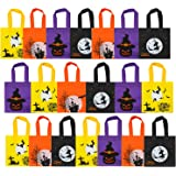 Elcoho 20 Packs Halloween Non-Woven Bags Trick or Treat Gift Bags Party Goodie Tote Bags Treat Bag with Handles Party Favors,