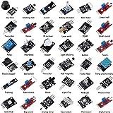 Aokin 37 in 1 Sensor Module DIY Kit with Assortment Box for Arduino UNO R3, MEGA, Nano,Raspberry Pi 3,3B+,RPi A,Model B,B+,2