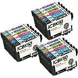 エプソン IC6CL50 互換インクカートリッジ残量検知機能 ICチップ付け 風船 6色セット×3(18個) KingJet