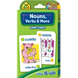 SCHOOL ZONE - Nouns, Verbs & More Game Cards, Ages 6 and Up, Grammar, Parts of Speech, Word-Picture Association, Sentence Str