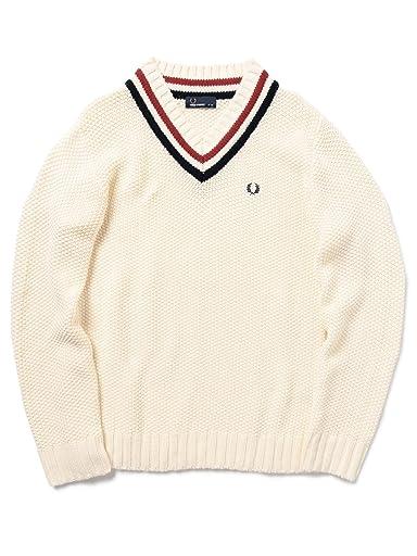 Pique Stitch Cotton Cricket Sweater 11-15-0782-060: Off