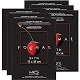"""MCS 5"""" x 7"""" Format Picture Frame - Black, Black, 6 Pack"""