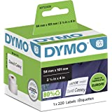 Dymo S0722430 Large Shipping Labels/Name Badges, 54mm x 101mm, Roll of 220 Easy-Peel Labels, Self-Adhesive, for LabelWriter L