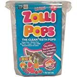 Zollipops Clean Teeth Pops, Anti Cavity Lollipops, Delicious Assorted Flavors, 1 LB Tub