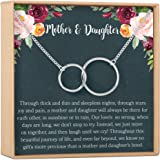 Dear Ava Mother Daughter Gift Necklace, Gifts for Mom, Mom Necklace, 2 Interlocking Circles