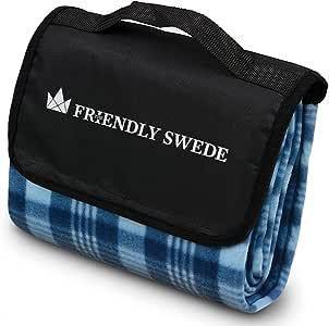 北欧発「The Friendly Swede」折りたたみ 軽量 ピクニック レジャーシート 花見シート コンパクトレジャーシート 防水加工 アウトドアシート (130x170cm)