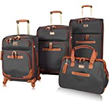Steve Madden Luggage Set 4 Piece- Softside Expandable Lightweight Suitcase Set With 360 Spinner Wheels - Travel Set includes