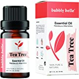 Bubbly Belle Tea Tree Essential Oil, 100% Pure Natural Undiluted, Therapeutic Grade for Aromatherapy, Diffusers, Topical, and
