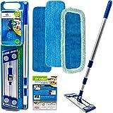 Microfiber Hardwood Floor Mop - Dust Mop For Hardwood Floor Cleaning - Advanced Wet & Dry Flat Microfiber Mop For Hardwood Fl