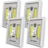 LED Night Light, Kasonic 200 Lumen Cordless COB LED Light Switch, Under Cabinet, Shelf, Closet, Garage, Kitchen, Stairwell an