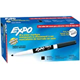 Expo 86001 Low Odour Dry Erase Markers, Fine Tip, Black, 12 Count