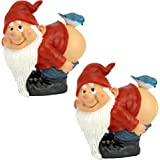 Design Toscano Medium Lonnie Moonie Gnomes Statue (Set of 2, Multicolor