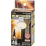 オーム電機 LED電球 レフランプ形 E26 60形相当 人感・明暗センサー 電球色 LDR7L-W/S 9 06-0789 OHM