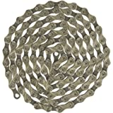 KMC X9.93 9-Speed 116 Link Bicycle Chain, Silver/Black, 1/2 x 11/128-Inch