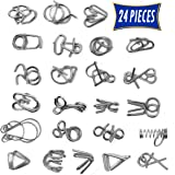 Brain Teasers Metal Wire Puzzle Toys - Assorted Metal Puzzle Toys for Gifts, Party Favors, Prizes, Disentanglement Puzzle Unl