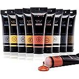Metallic Acrylic Paint, Art Paint Set of 10 Colors with Storage Box (120 Ml/4.06 Oz.), Acrylic Craft Paints Non Toxic Rich Pi