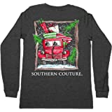 Southern Couture Classic Long Sleeve Fit Truck Adult T-Shirt Dark Heather