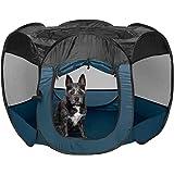 FurHaven Pet Playpen   Mesh Open-Air Dog Playpen/Exercise Pen, Sailor Blue, Small