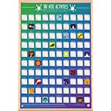 Gift Republic 100 Kids Activities Bucket List Poster, Multi