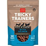 Cloud Star Tricky Trainers Chewy Dog Treats – Whole Grain Soft, Adult & Puppy Training Treats, Salmon 14 oz.