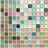 APSOONSELL モザイクタイルシール 【4枚】キッチン 洗面所 ウォールステッカー DIY 現代芸術 おしゃれ 防…