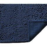 H.VERSAILTEX Push Microfiber Bath Rugs Chenille Floor Mat Ultra Soft Washable Bathroom Dry Fast Water Absorbent Bedroom Area