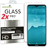 [2 Pack] MEZON Crystal Clear Premium 9H HD Tempered Glass Screen Protector for Nokia 7.2 – Case Friendly, Shock Absorption (N