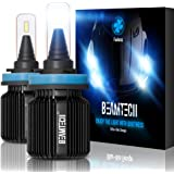 BEAMTECH H11 LED Headlight Bulb,Fanless CSP Y19 Chips 8000 Lumens 6500K Xenon White H8 H9 Extremely Bright Conversion Kit of