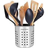 Utopia Kitchen Stainless Steel Cooking Utensil Holder 5 x 5.3 Inches