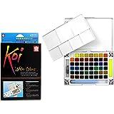 Sakura Assorted Brush Koi Watercolor Field, 48 Color Sketch Set (XNCW-48N)
