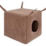Niteangel Ferret Cozy Swing Hammock - Hanging Beds for Ferrets Rats Chinchilla Sugar Gliders or Other Small Animals (Chocolat