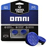 KontrolFreek Omni for PlayStation 4 (PS4) and PlayStation 5 (PS5) | Performance Thumbsticks | 2 Low-Rise Concave | Blue