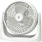 [山善] 扇風機 18cm エアーサーキュレーター ロータリースイッチ 風量2段階調節 ホワイト YAS-M184(W) [メーカー保証1年]