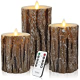 Vinkor Flameless Candles Flickering Candles Decorative Battery Flameless Candle Classic Real Wax Pillar with Dancing LED Flam