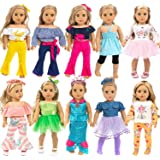 ZITA ELEMENT 10 Complete Sets 18 Inch Doll Clothes Dress and Accessories for American 18 Inch Girl Doll Generation Life Doll