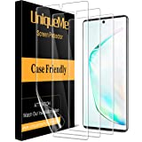 [3 Pack] UniqueMe Compatible with Samsung Galaxy Note 10 Plus/Samsung Galaxy Note 10+ Screen Protector,[Fingerprint Available
