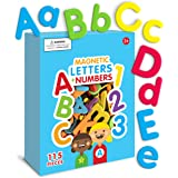 Curious Columbus Magnetic Letters and Numbers. 115 ABC Magnets. Foam Alphabet Letters Plus Numbers. Educational Toy for Kids