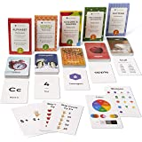 Think Tank Scholar Preschool Flash Cards Bundle - Alphabet (ABC) Letters, Math Numbers & Counting, Colors & Shapes, First Wor