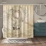 VODW Parrot Shower Curtain Waterproof Shower Curtain Lifelike Animal Unique Design Hand Drawing Effect Fabric Parrot Shower C