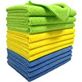 Polyte Microfibre Cleaning Cloth 30x40 cm, Blue, Green, Yellow (12)