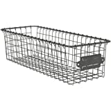 """Spectrum Diversified Vintage Living Basket 5.5"""" x 16"""" Home Storage Bin for All Rooms, Featuring an Open Design for Easy Organ"""