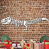 Jurassic World Dinosaur Happy Birthday Banner - Dinosaur Birthday Party Supplies - Jurassic World Party Supplies