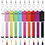 40 Pieces Chapstick Holder Keychains Lipstick Holder Keychain Lip Balm Holder Hand Wristlet Keychains with Metal Clip Cords a
