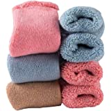 Baby Toddler Thick Wool Socks - Super Warm Soft Winter Solid Color Casual Crew Socks For Baby Girls Boys 1-3T (Pack of 3)